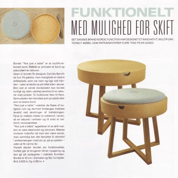Nordic Function Not just a table artikel fra Fein article about table chair in Danish art magasine