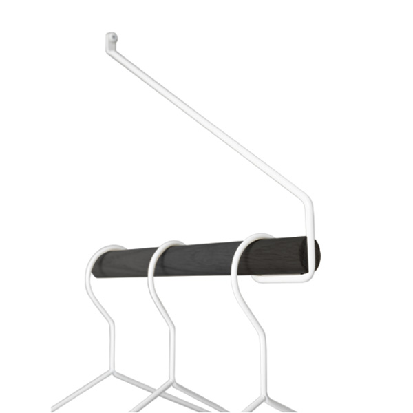 Nordic Function sort hvid bøjlestang i eg og metal black and white metal and oak clothes rack