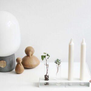 Vase, lysestage planter, glas, skandinavisk