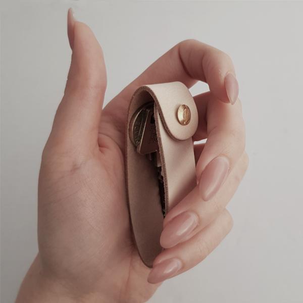 Nordic Function 4Keys nøglering i natur læder key chain key holder design natural leather
