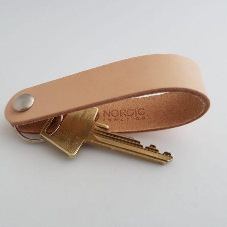 naturlæder, sort læder, nøglering læder, keyholder, lædernøglering