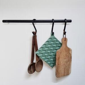 køkkenstang garderobe stang entre med s-kroge