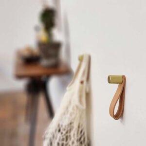 Nordic Function ShineUP messing knage med læder strop til bøjler